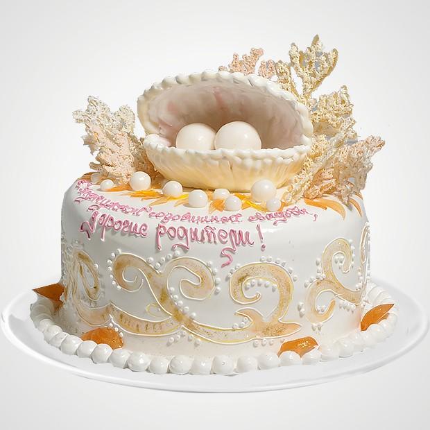 Торты с жемчужной свадьбой 65